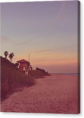 Vintage Beach Hut Canvas Print by Laura Fasulo