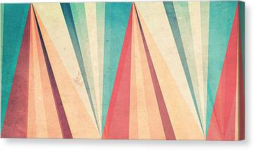 Vintage Beach Canvas Print by VessDSign