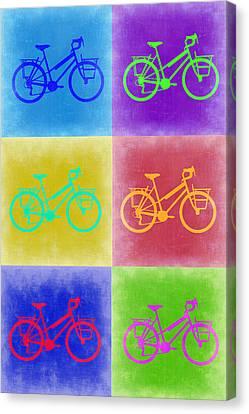 Vintage Bicycle Pop Art 2 Canvas Print