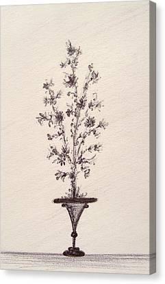 Vintage Bouquet Canvas Print by Christine Corretti
