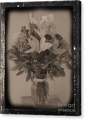 Vintage Bouquet Canvas Print by Margaret Newcomb