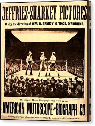 Vintage Boxing Movie Poster Canvas Print by Bill Cannon