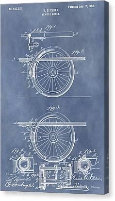 Vintage Brake Patent Canvas Print