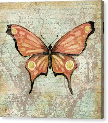 Vintage Butterfly I Canvas Print by Paul Brent