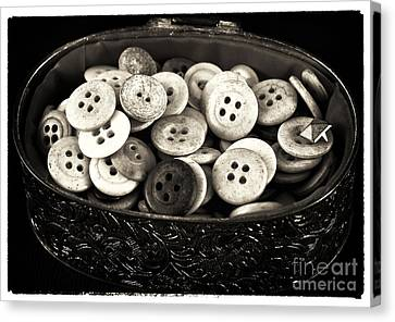 Vintage Button Treasure Canvas Print by John Rizzuto