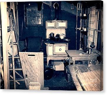 Vintage Cabin Interior Canvas Print by Phil Perkins
