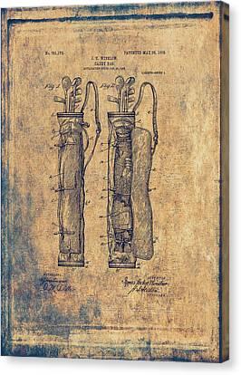 Vintage Caddy Bag Patent - 1905 Canvas Print