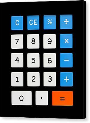 Vintage Calculator Keypad Canvas Print by Jim Hughes