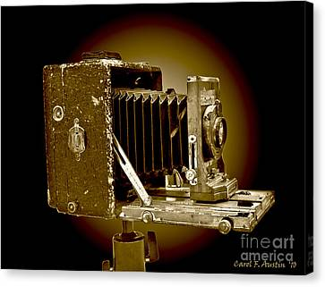 Vintage Camera In Sepia Tones Canvas Print