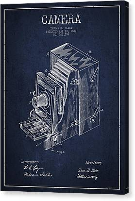 Vintage Camera Patent Drawing From 1887 Canvas Print