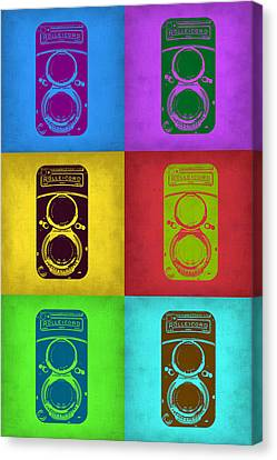 Vintage Camera Pop Art 2 Canvas Print by Naxart Studio