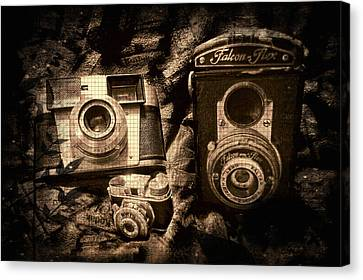 Vintage Cameras Canvas Print by Shannon Story