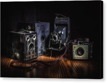 Vintage Cameras Still Life Canvas Print by Tom Mc Nemar
