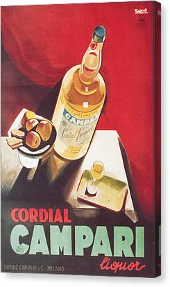 Vintage Campari Canvas Print by Georgia Fowler