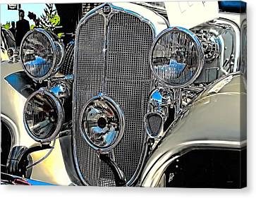 Vintage Car Art Buick Grill And Headlight Hdr Canvas Print