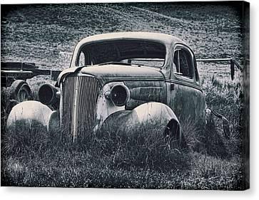 Vintage Car At Bodie Canvas Print by Kelley King