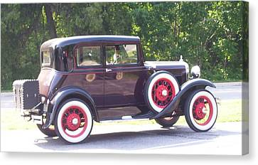 Canvas Print featuring the photograph Vintage Car by Kristine Bogdanovich