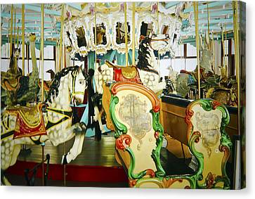 Canvas Print featuring the photograph Vintage Carosel by Debra Crank
