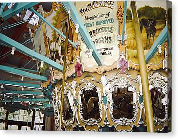 Canvas Print featuring the photograph Vintage Carousel by Debra Crank
