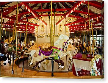Canvas Print featuring the photograph Vintage Carousel by Maria Janicki