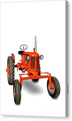 Vintage Case Tractor Canvas Print by Olivier Le Queinec