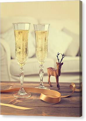 Vintage Champagne Canvas Print by Amanda Elwell