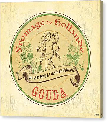 Vintage Cheese Label 2 Canvas Print