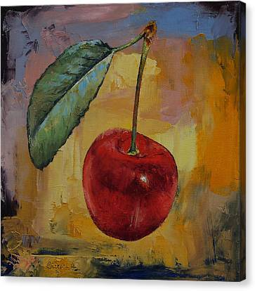 Vintage Cherry Canvas Print by Michael Creese