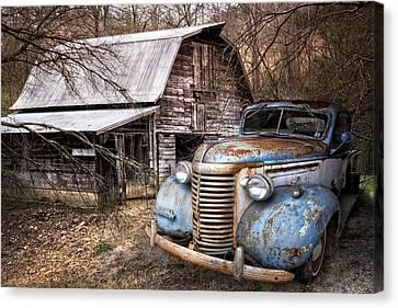 Vintage Chevrolet Canvas Print by Debra and Dave Vanderlaan
