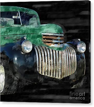 Vintage Chevrolet Pickup 1 Canvas Print by Betty LaRue