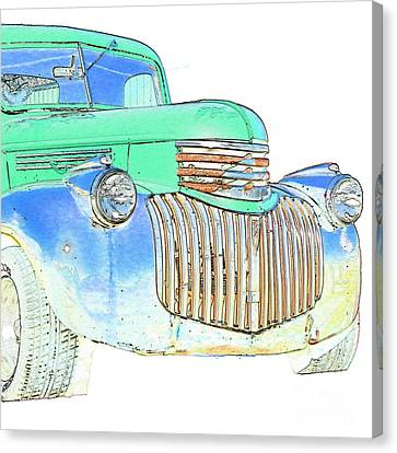 Vintage Chevrolet Pickup 2 Canvas Print by Betty LaRue
