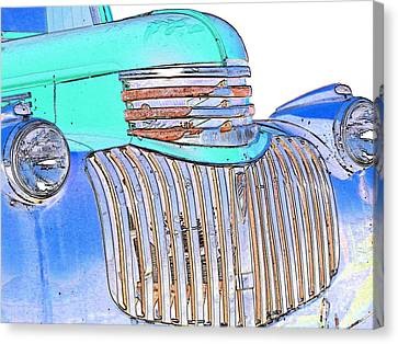 Vintage Chevrolet Pickup 3 Canvas Print by Betty LaRue