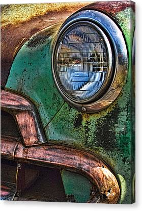 Vintage Chevy 1 Canvas Print by Nancy De Flon