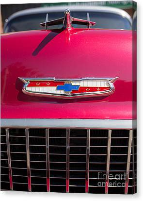 Vintage Chevy Bel Air Canvas Print by Edward Fielding