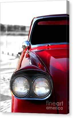 Vintage Chevy Red Canvas Print by Jennifer Mecca