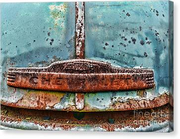 Vintage Chevy Rust  Canvas Print by Paul Ward