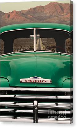 Vintage Chevy Truck Canvas Print by Ron Sanford