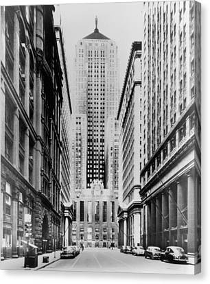 Vintage Chicago Board Of Trade Canvas Print by Horsch Gallery