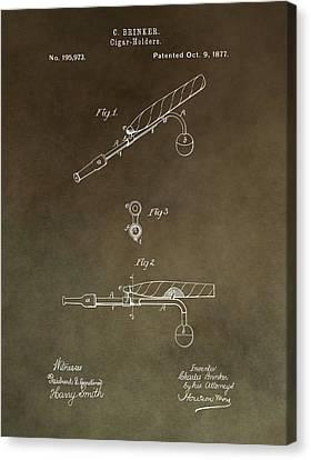 Vintage Cigar Holder Patent Canvas Print