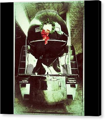 Transportation Canvas Print - Vintage Class J Locomotive At The by Teresa Mucha