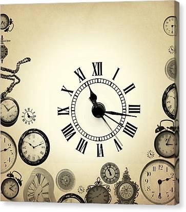 Vintage Clocks Canvas Print by Mark Ashkenazi