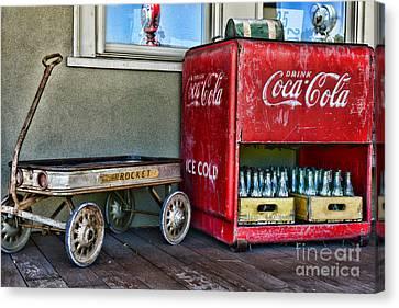 Vintage Coca-cola And Rocket Wagon Canvas Print by Paul Ward