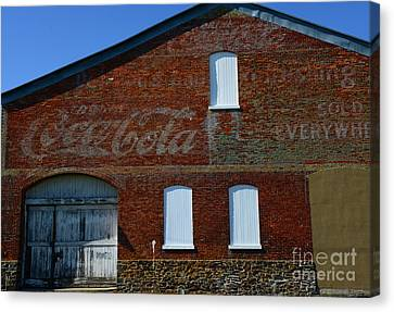Vintage Coca Cola Ghost Sign Canvas Print by Paul Ward