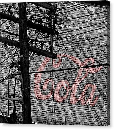 Vintage Coca Cola Sign 4b Canvas Print by Andrew Fare