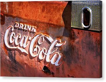 Canvas Print featuring the photograph Vintage Coca Cola by Steven Bateson