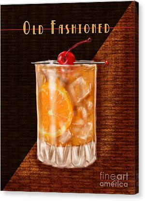 Vintage Cocktails-old Fashioned Canvas Print