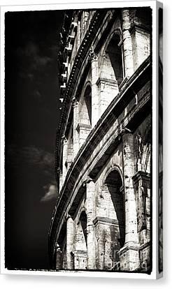 Vintage Colosseum Canvas Print by John Rizzuto