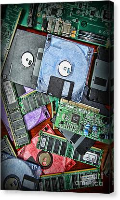 Component Canvas Print - Vintage Computer Parts by Paul Ward