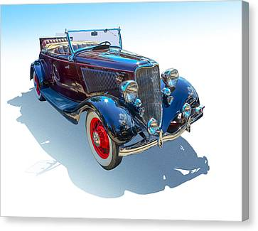 Canvas Print featuring the photograph Vintage Convertible by Gianfranco Weiss