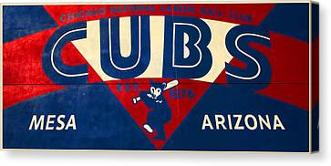 Vintage Cubs Spring Training Sign Canvas Print by Stephen Stookey